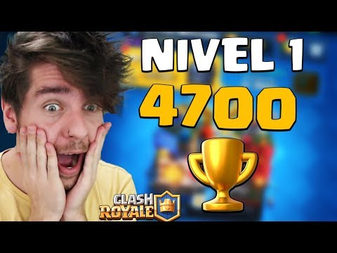 BIZARRO! NIVEL 1 COM 4700 TROFÉUS NO CLASH ROYALE