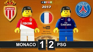 French Super Cup 2017 • Monaco vs PSG Paris Saint-Germain 1-2 • goal highlights Lego Football film