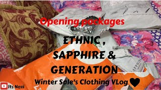 Clothing Vlog /Opening packages / ETHNIC, SAPPHIRE AND GENERATION / Winter Sale's Review | Its Nazi