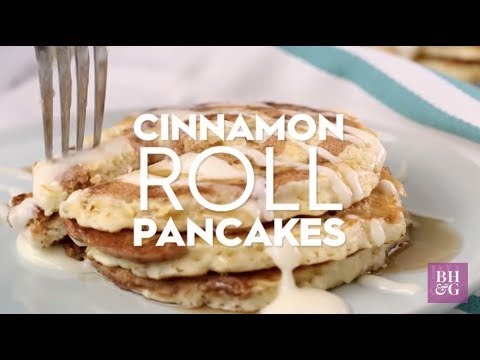 Cinnamon Roll Pancakes Eat This Now Better Homes Gardens Youtube