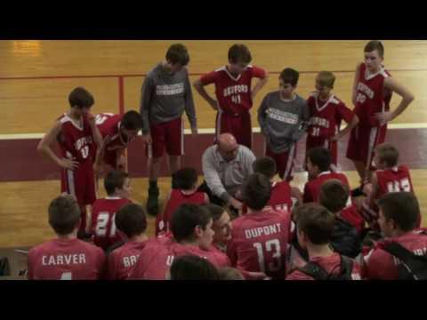 20161221 2 of 3 Bedford Junior High School Michigan 7th grade boys red team vs Dexter