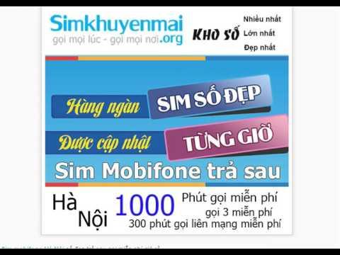 Sim Mobifone Hà Nội Số đẹp Trả Sau Gọi Miễn Phí