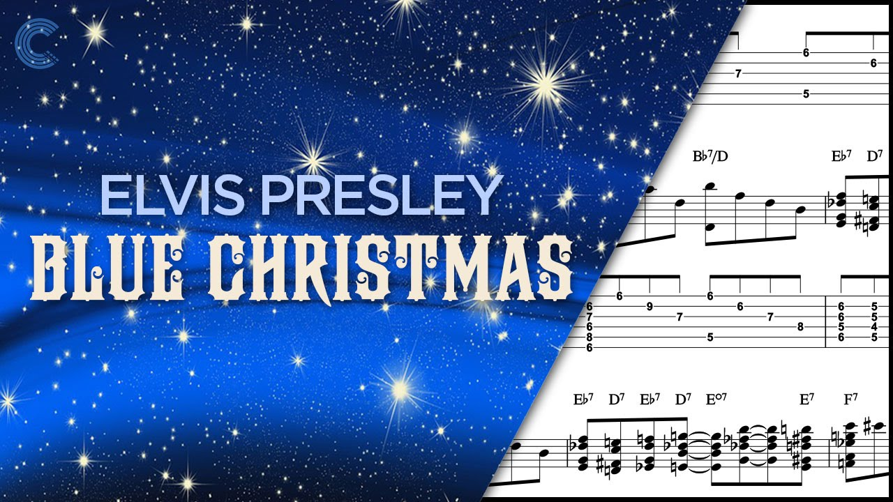 ukulele blue christmas elvis presley sheet music chords vocals youtube - Blue Christmas Chords