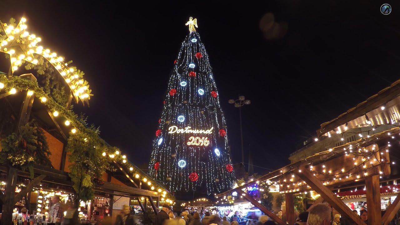 Dortmund Weihnachtsmarkt.Weihnachtsmarkt Dortmund 2016 4k