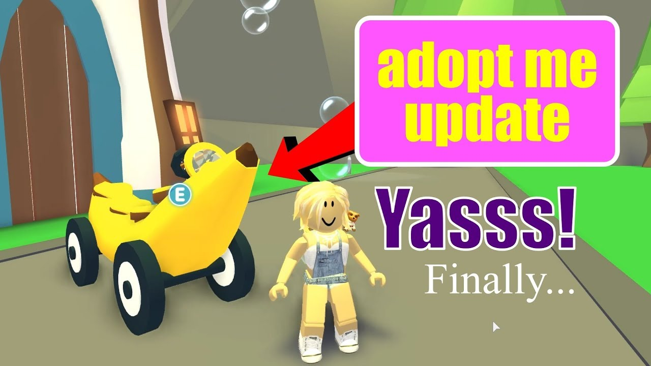 ROBLOX Adopt Me Update - I got a Legendary Banana Car - Video - ViLOOK