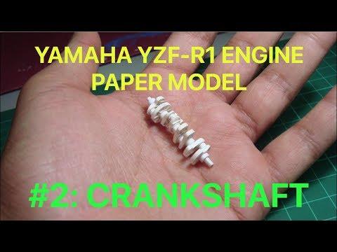 2015 Yamaha YZF-R1 Engine paper model: Part 2- Crankshaft