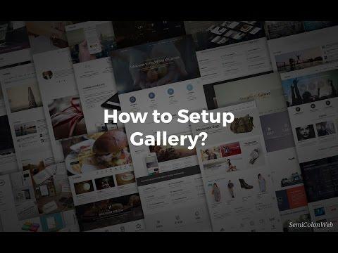 Gallery Setup | Canvas HTML