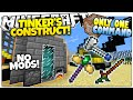 Minecraft   TINKER'S CONSTRUCT   Custom Tools & Weapons!   Only One Command (One Command Creation)
