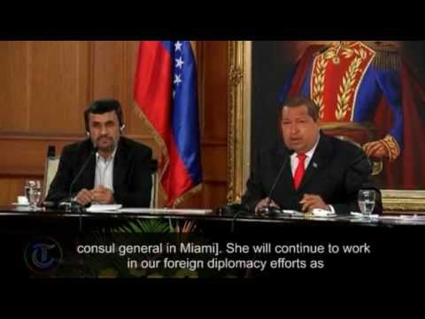 Iranian President Mahmoud Ahmadinejad and Venezuela's Hugo Chavez mock US