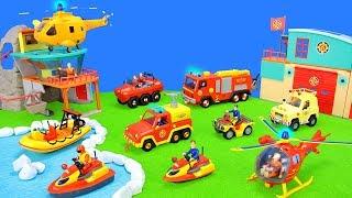 Feuerwehrmann Sam Hubschraubereinsatz: Spielzeug Feuerwehrset Unboxing & Feuerwehrautos Kinderfilm