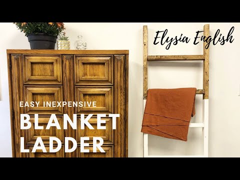 DIY Easy Inexpensive Blanket Ladder | How to build a wood decor ladder | Fast Tutorial | Under $10