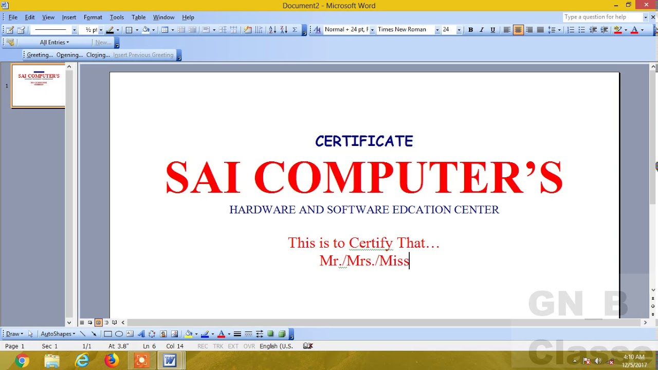 How to create certificate in microsoft wordms word hindi youtube how to create certificate in microsoft wordms word hindi yelopaper Choice Image
