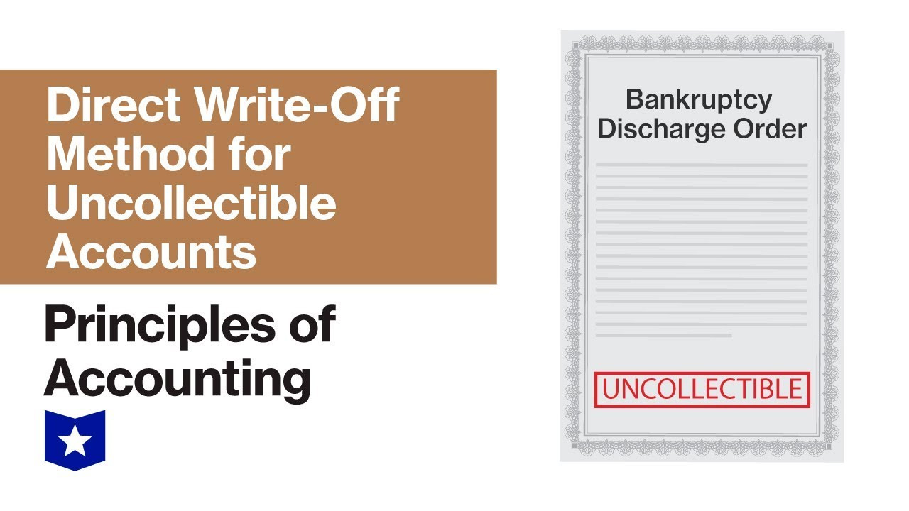 Direct Write-Off Method for Uncollectible Accounts | Principles of  Accounting