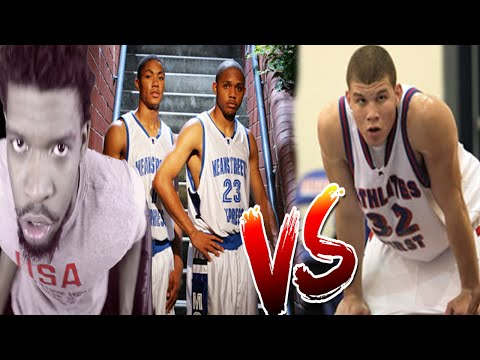 THESE REFS ARE D-ROSE HATERS! DERRICK ROSE vs BLAKE GRIFFIN IN HIGH SCHOOL REACTION!