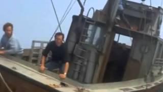 LO SQUALO (1975) - Uno squalo tenta di rovesciare una barca -