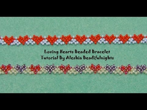 Loving Hearts Beaded Bracelet Tutorial
