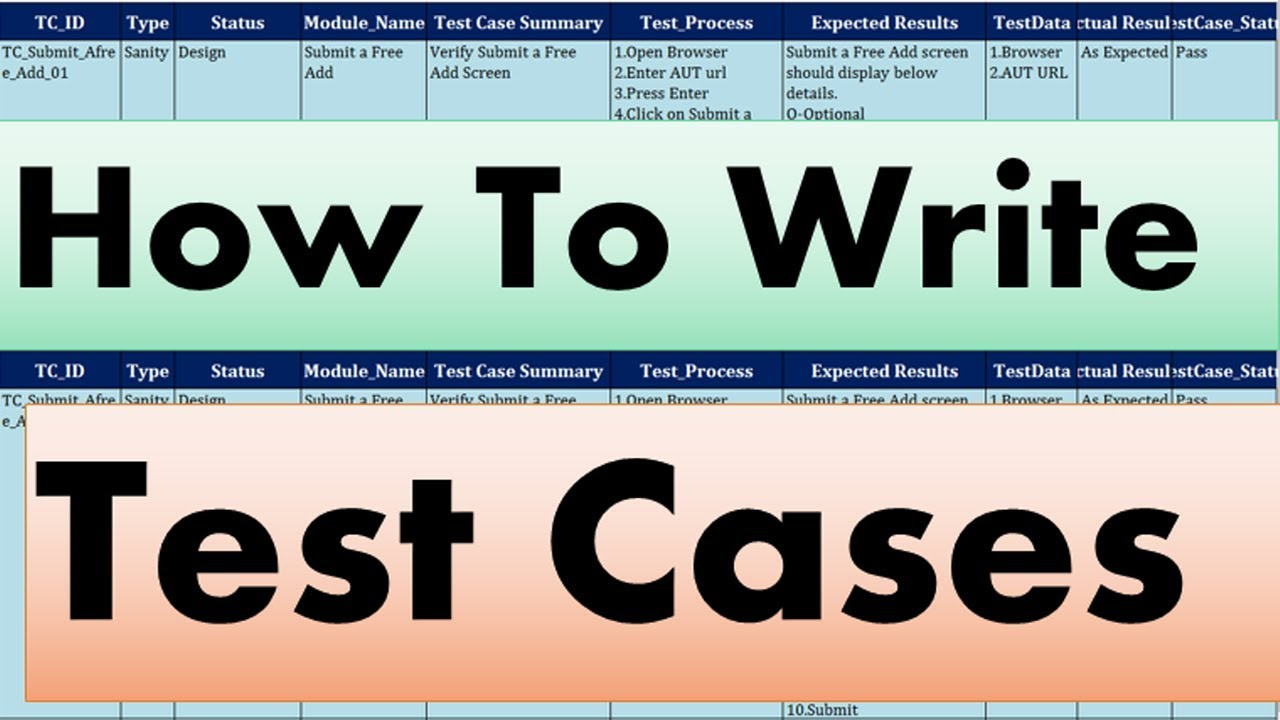 Software Testing Tutorials | How to write a test case - YouTube