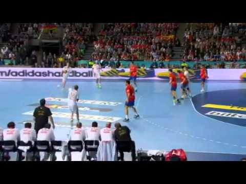 Denmark vs Spain(1st Half)  World Championships Final handball 2013