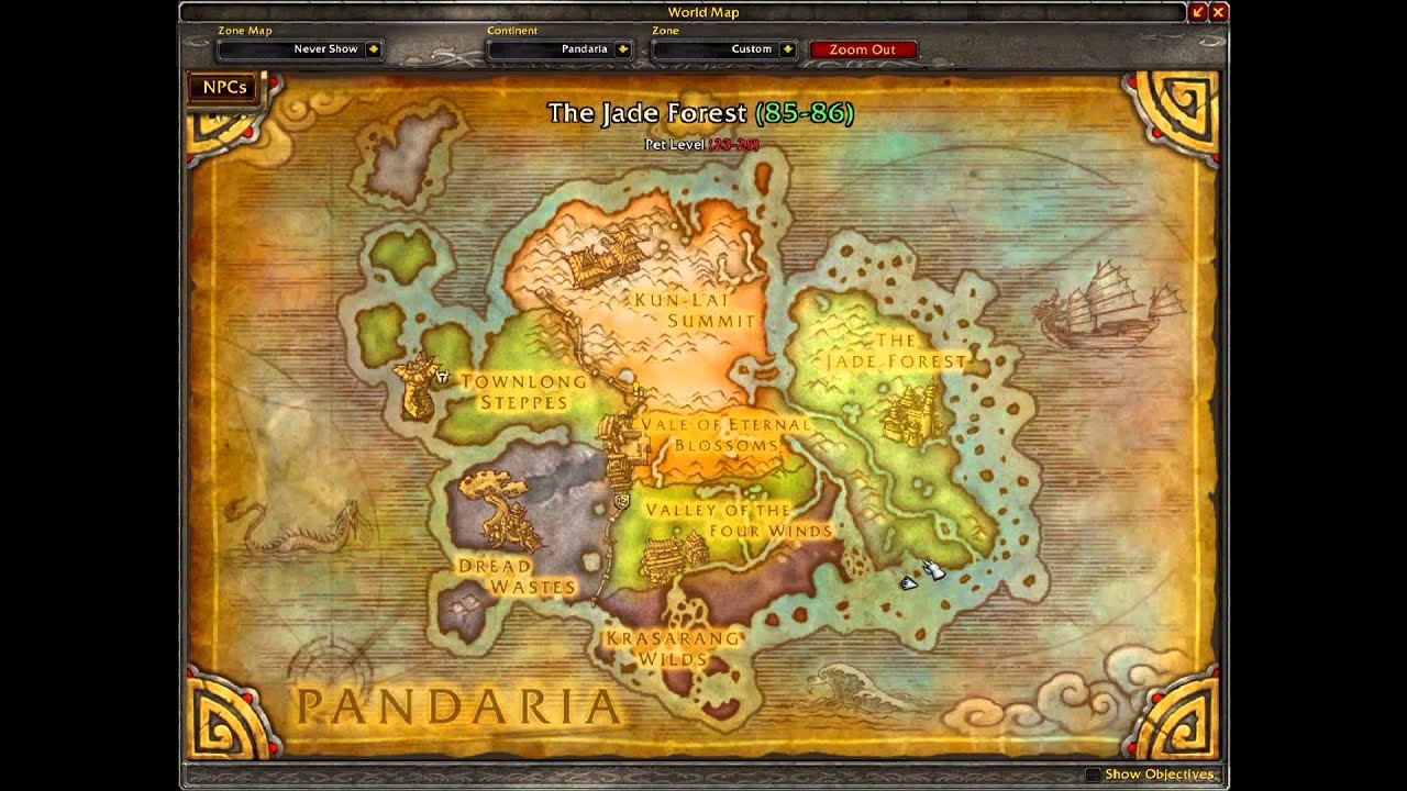 Wow Mop Hidden Items Throughout Pandaria Zones Youtube