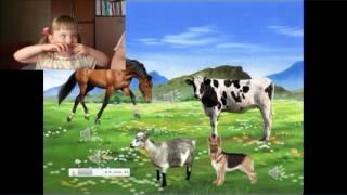 Ребенок угадывает животных. Логопед онлайн