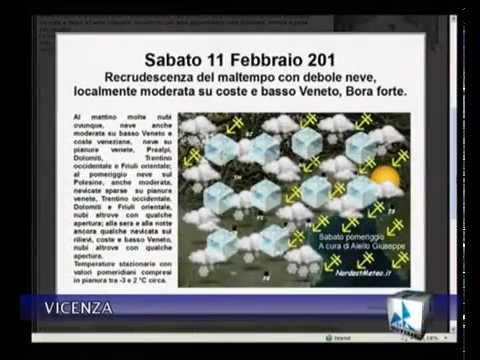 Previsioni di NordestMeteo su TVA Vicenza