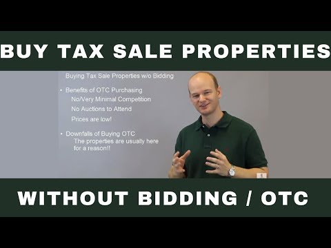 Buying Tax Sale / Tax Deed Properties without Bidding Over The Counter OTC