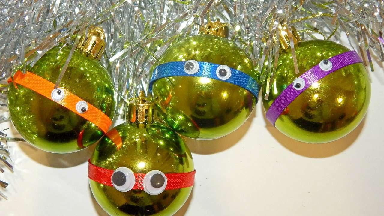 Ninja Turtle Christmas Tree.How To Make Ninja Turtles For Your Christmas Tree Diy Home Tutorial Guidecentral
