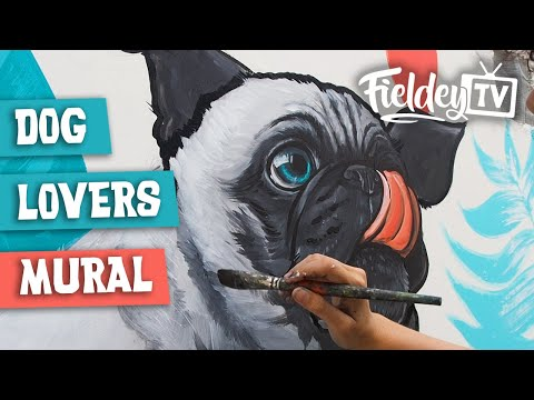 A street art mural for dog lovers in Bogotá, Colombia