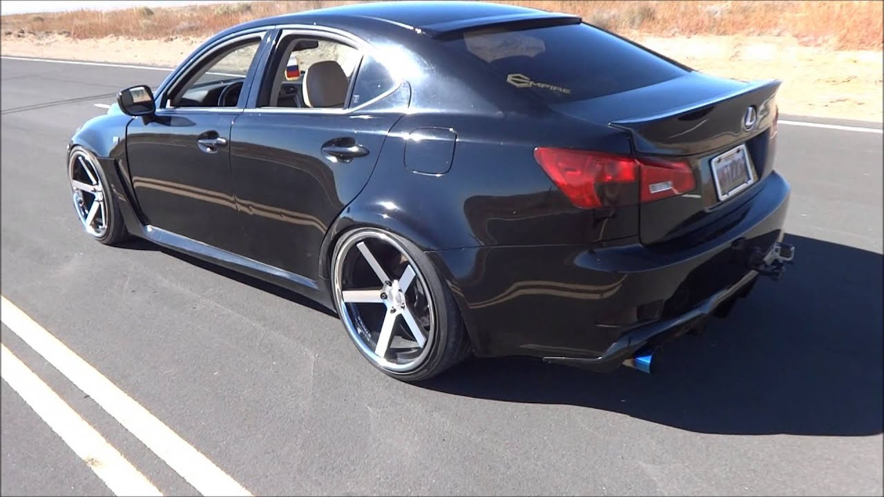 Stanced Lexus Is350 Empire Garage Custom Exhaust Version 2 Widebody