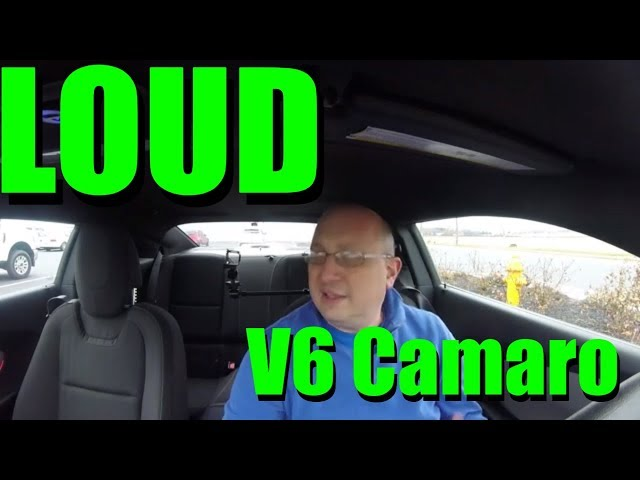 How loud can a V6 Camaro get