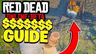 Red Dead Redemption 2 Online - MAKING MONEY GUIDE! (Red Dead Online Beta)