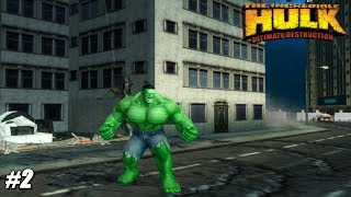 The Incredible Hulk: Ultimate Destruction - PS2 Gameplay Playthrough 1080p (PCSX2) PART 2