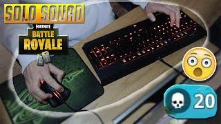 20 KILL SOLO SQUAD WIN + KEYBOARD CAM (Fortnite Battle Royale)