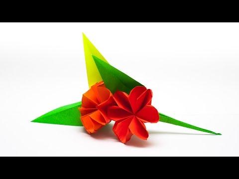 วิธีพับกระดาษเป็นช่อดอกไม้ติดอกเสื้อ Origami Wedding Chest Flower