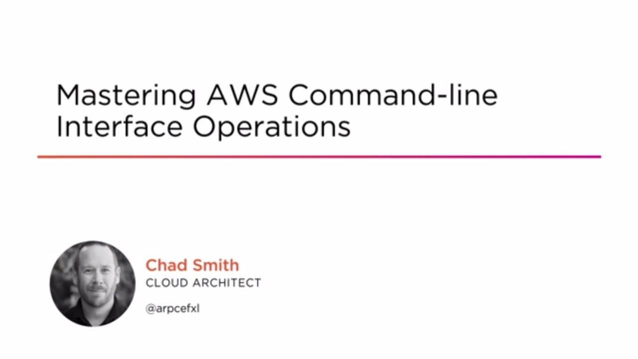 Mastering AWS Command-line Interface Operations | Pluralsight
