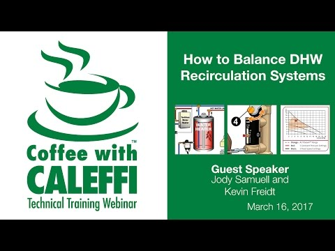 How to Balance DHW Recirculation Systems