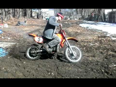 Honda Cr 80 Dirt Bike Shreds The Mud