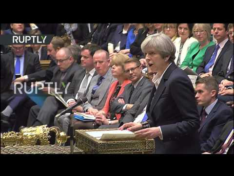UK: Theresa May formally triggers Brexit process