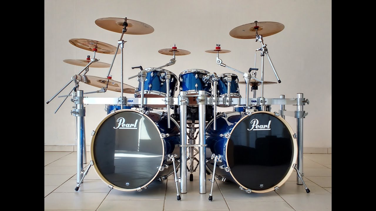 Pearl EXX Double Bass Electric Blue Sparkle