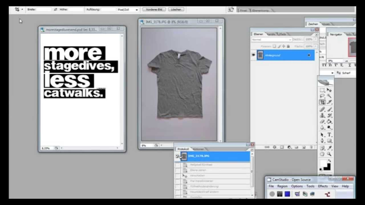 Tutorial - T-Shirt Vorlage in Photoshop erstellen - YouTube