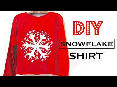 5e4d0de5 DIY Snowflake Shirt | How to Make Easy Christmas Gifts - YouTube