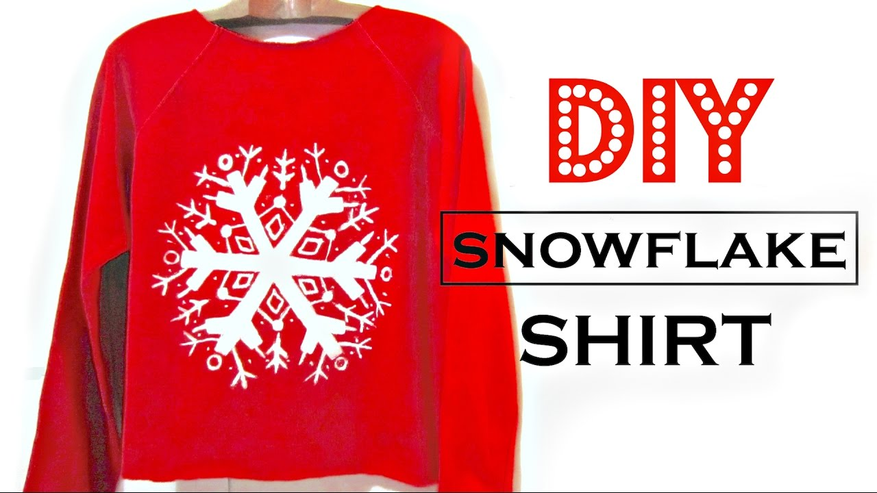 Diy snowflake shirt how to make easy christmas gifts youtube diy snowflake shirt how to make easy christmas gifts solutioingenieria Images