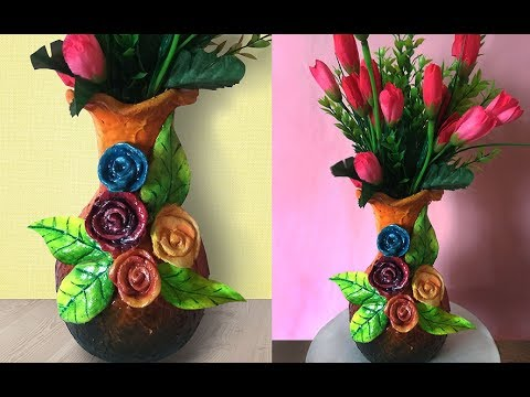 Diy Flower Vase Decoration Using Ceramic Powder Ceramic Art
