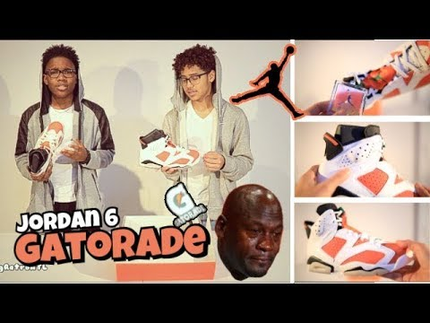 JORDAN 6 GATORADE REVIEW!! FEAT. VIEWS FROM SMB OR J E F E!! CLEAN COLORWAY!!