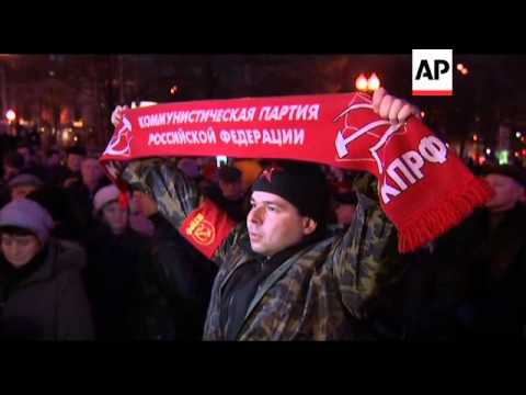 Arrests during protests over election fraud, Gorbachev comments