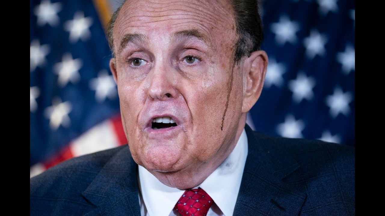Rudy Giuliani's post-election meltdown starts to become literal