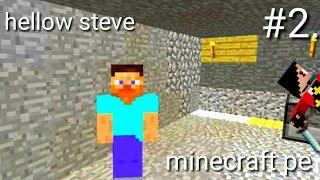 Minecraft pocket edition[buat rumah dalam gua]#2./////w...Steve.....😂