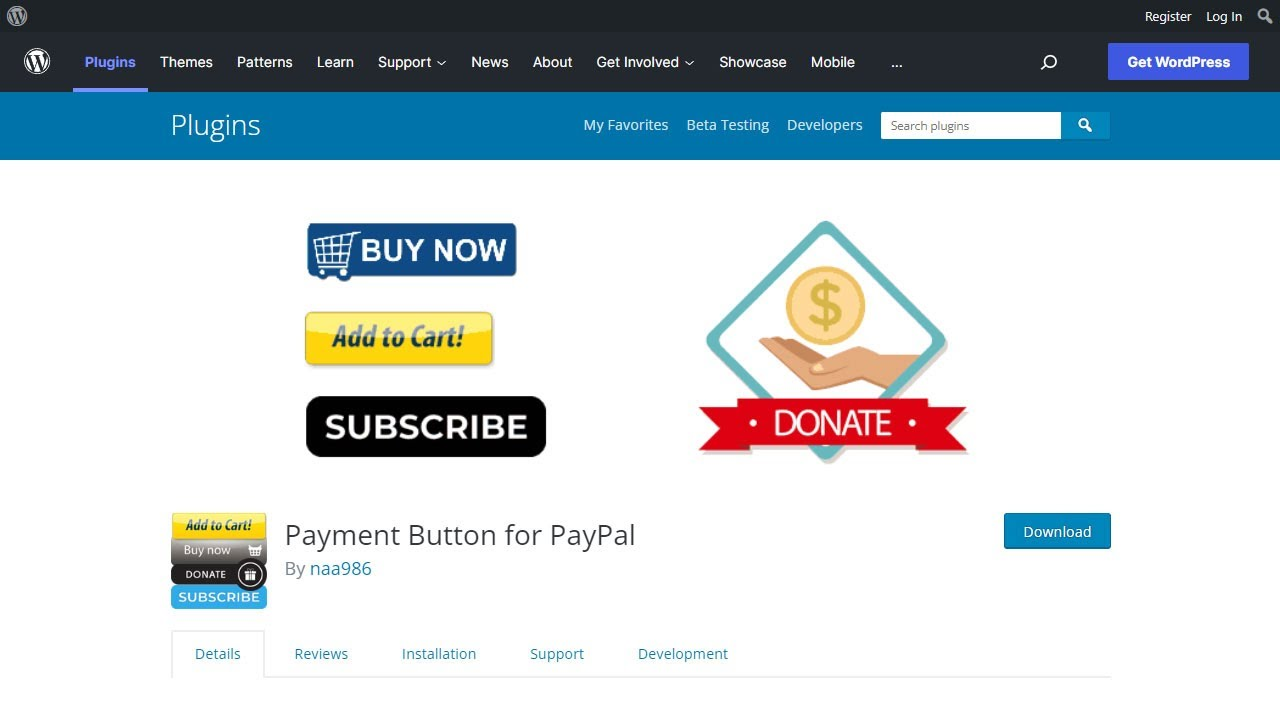 WordPress PayPal – WordPress plugin | WordPress org