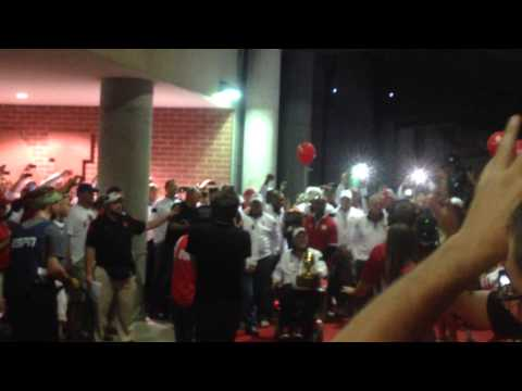 9-20-14 The 1994 National Championship team leads the  Husker Tunnel Walk vs. Miami