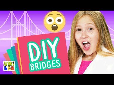 Build Your Own Strong DIY Paper Bridge   UniLab   UniLand Kids